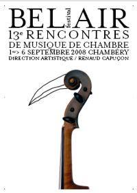 chambre de commerce de chambery bel air le programme de musique de chambre du festival