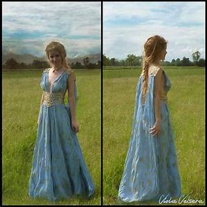 Game of Thrones Costume - Daenerys Qarth Blue Dress with ...