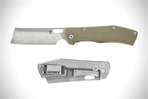 cleaver knife gerber flatiron folding knife hiconsumption