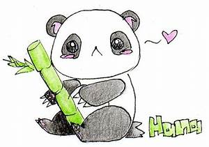 Learn how to draw a cute panda bear cartoon face easy with ...