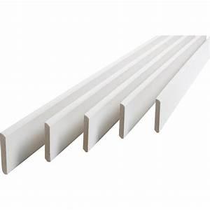Leroy Merlin Medium : lot de 5 plinthes m dium mdf arrondies peint blanc 9 x 70 mm l 2 m leroy merlin ~ Melissatoandfro.com Idées de Décoration
