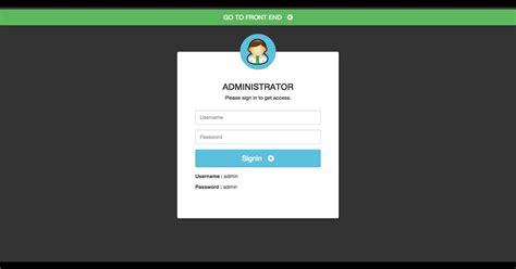 user login  management php script codester