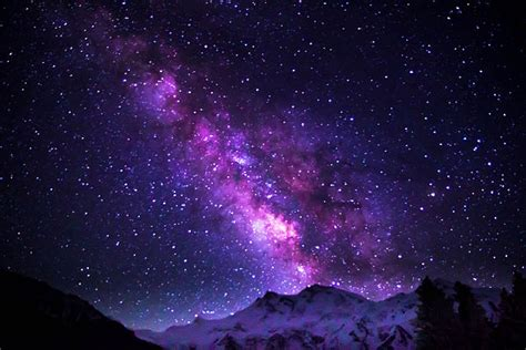 Filemilky Way Galaxy Shimmering Over Nanga Parbat