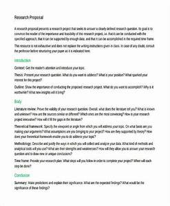 Example Of Research Project Proposal Cheap College Report Sample Of