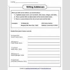 Super Teachers Writing Addresses Worksheet  Education World