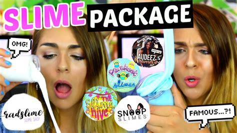 Slime Package Unboxing On Famous Etsy Slime Shops! Snoo