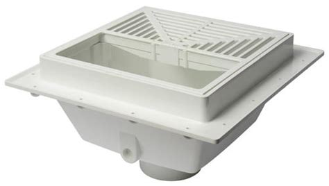squaremax pvc square floor sink with half open strainer
