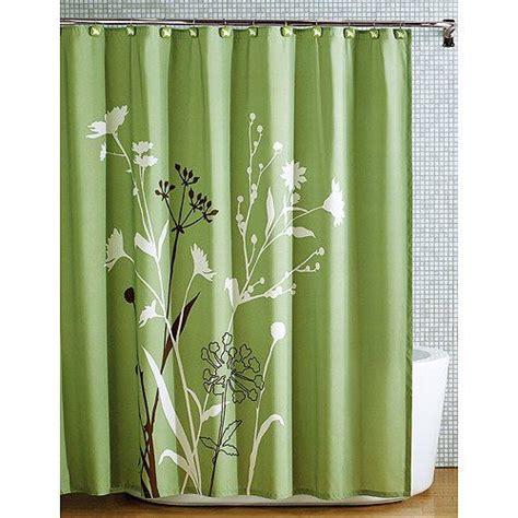 green shower curtain beautiful green brown bird nature modern