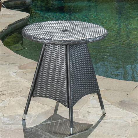 colonial outdoor grey wicker  bistro table gdf studio