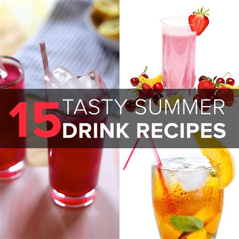15 tasty summer drink recipes