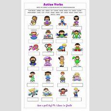Action Verbs Interactive Worksheet