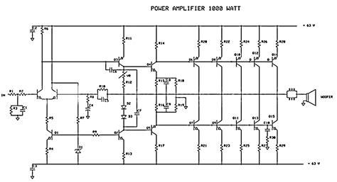 Power Audio Amplifier Circuit Circuitszone
