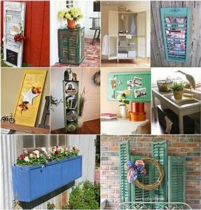 50 creative ideas to recycle old shutters for home decor With interior decor recycling