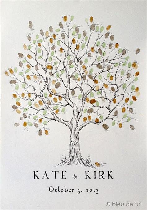 wedding fingerprint tree ideas   pinterest