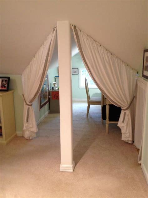 bedroom slanted ceiling room dividers decorating ideas