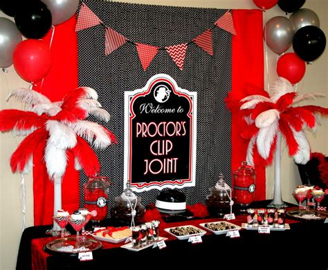 A Roaring 20s Birthday Party Lodge Christmas Decor School Door Decorations Front Porch Pictures Kitchen Classroom Decoration Marks And Spencer 2014 Target Light Indoor