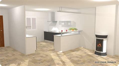 deco cuisine ouverte dco cuisine ouverte sur salle manger ilot central en bois effet vieillit pour rchauffer cette cuisine ouverte loft deco