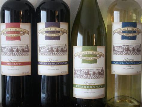 comparing chilean wine trader joes vinas chilenas