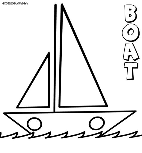 Simple Boat by Simple Sailboat Coloring Page Www Pixshark Images