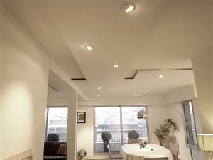 Eclairage Plafond Cuisine : eclairage faux plafond cuisine luminaire cuisine spot ~ Edinachiropracticcenter.com Idées de Décoration
