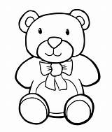 Coloring Toys Pages Toy Stuffed Bear sketch template