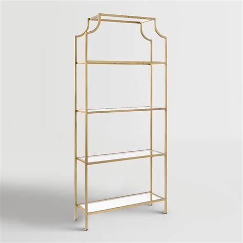Gold Milayan Tall Shelf  World Market