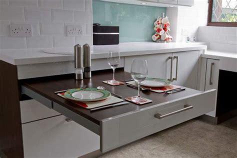 stylish  practical sliding table  kitchen