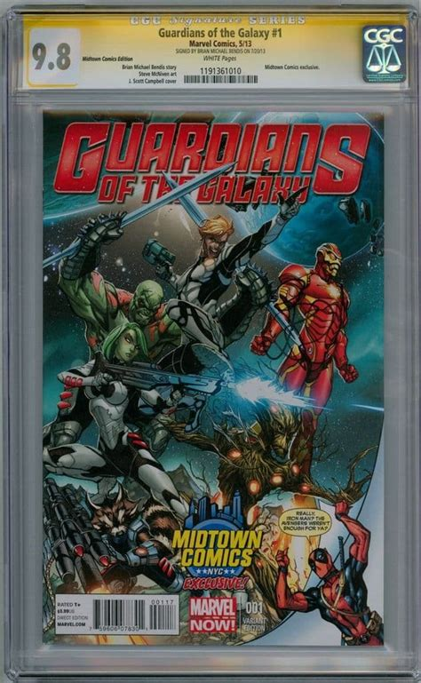Guardians Of The Galaxy 1 Midtown Deadpool Variant CGC 9 8 ...