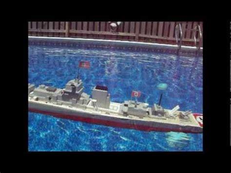 lego ships sinking in water lego bismarck model sinking