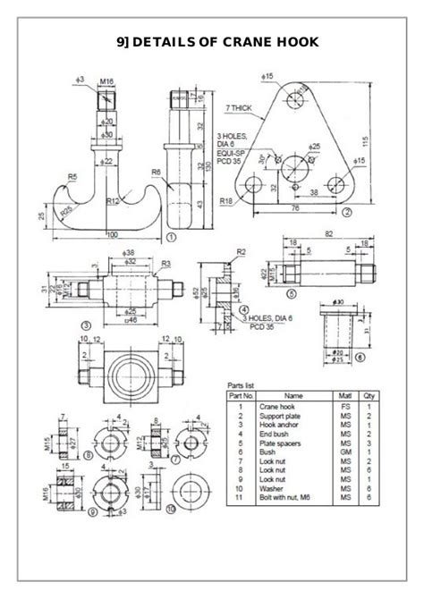 assembly  details machine drawing  mechanical