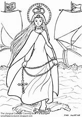 Coloring Lady Holy Rosary Pages Victory Catholic December Liturgical October Martyrs Done sketch template
