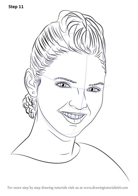 learn   draw kendall jenner female models step