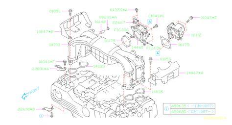 Subaru Intake Manifold Diagram by Subaru Outback Gasket Intake Manifold Throttle