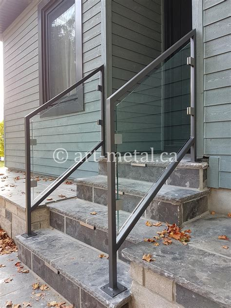 railing glass stair balustrade tempered metal contemporary systems staircase interior