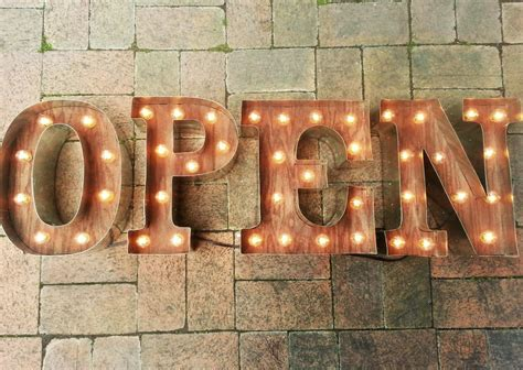 open sign marquee letters 4 light up letters business