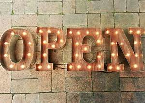 open sign marquee letters 4 light up letters business With 4 marquee letters