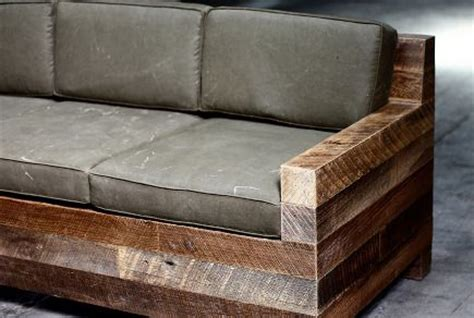 rustic couch     fours  denim covered