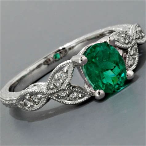 emerald engagement rings fay cullen archives rings antique emerald engagement ring