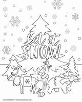 Coloring Winter Pages Activity Printable Cold Friends Indoor Days Animals Sheet Fun Perfect Three sketch template