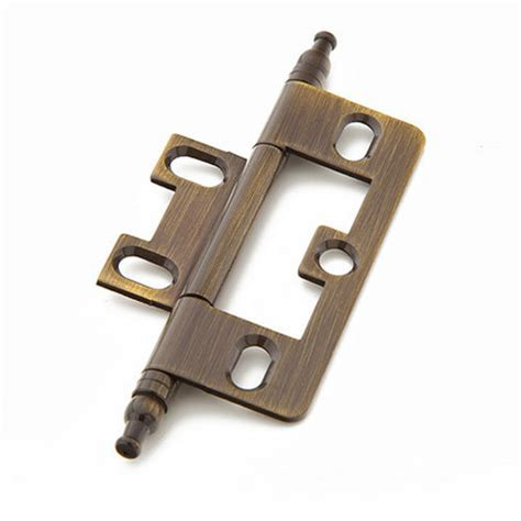 Non Mortise Cabinet Hinges Nickel by Schaub Minaret Tip Non Mortise Cabinet Hinge S