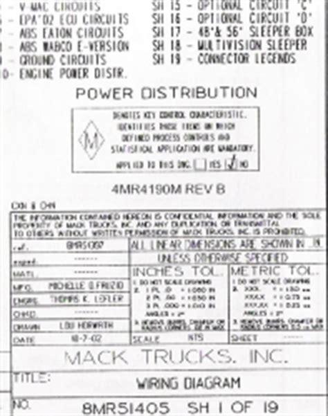 Mack Wiring Diagram Chassis Series Cxn Chn