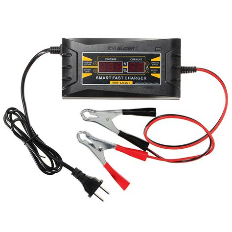 12v 10a 20 150ah smart battery charger lcd display souer