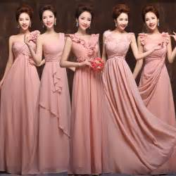 blush pink bridesmaid dress 2015 new 5 styles chiffon pink blush bridesmaid dress wedding prom dress