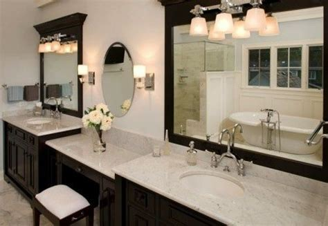 Double Vanity Cabinets For Bathroom With Dressing Table