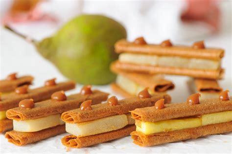 comment cuisiner des crepes crêpes dentelles pomme poire et caramel au beurre salé