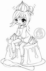 Coloring Yampuff Lineart Pages Anime Deviantart Chibi Kawaii Chibis Caramel Creme Chiharu Colouring Sheets Books Coloriage Dessin Printable Imprimer Dibujos sketch template