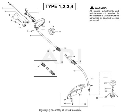 Eater Diagram by Poulan Fx26sc Gas Trimmer Type 1 Parts Diagram For Cutting