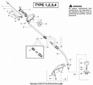 Poulan Fx26sc Gas Trimmer Type 1 Parts Diagram For Cutting