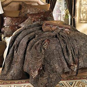 Western Bedding: King Size Western Paisley Beaumont Bed
