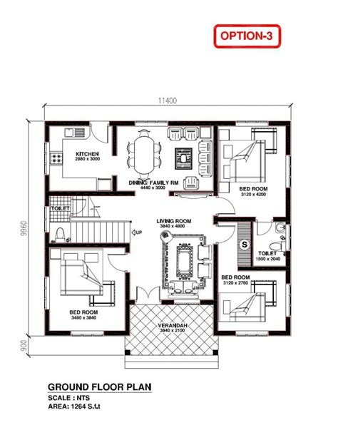 elegant kerala model  bedroom house plans  home plans design